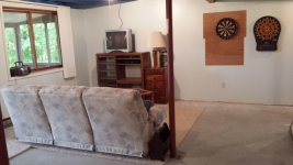 Mancave on walkout level
