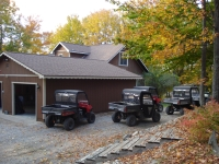 ORVs are welcome. Many miles of great trail and roads. Ride directly to and from the cabin.